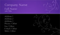 Black and Purple Vines Business Card Template
